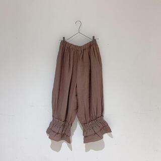 サマンサモスモス(SM2)のサマンサモスモス ルミネ立川限定 裾絞りペチパンツ ブラウン(カジュアルパンツ)