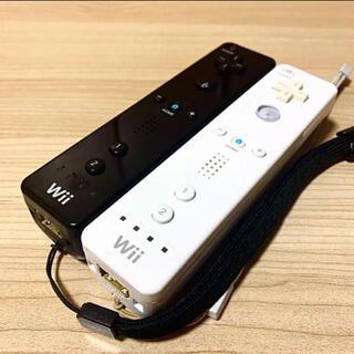 Wii - 任天堂Wiiリモコン2つセット〈ホワイト・ブラック〉