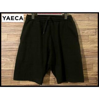 ヤエカ(YAECA)の美品 YAECA ヤエカ ストック スウェット ショーツ ハーフ パンツ 黒 M(ショートパンツ)
