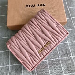 miumiu - ピンク❣miumiu 折り財布 コインケース