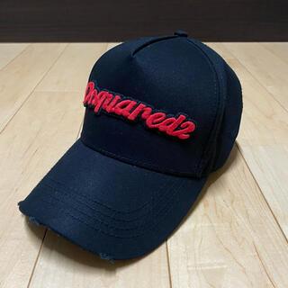 ディースクエアード(DSQUARED2)の短時間着用のみ ディースクエアード ロゴ 刺繍 キャップ CAP(キャップ)