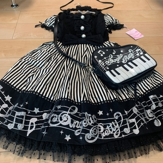 Angelic Pretty - 新品 アンジェリックプリティ メロディ ジャンパースカート ジャンスカ 音符