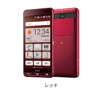 キョウセラ(京セラ)の[SIMフリー]au 簡単スマホ BASIO3 4G (スマートフォン本体)