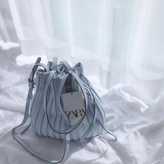 ZARA - ZARA プリーツミニバケットバッグ