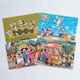 東京ディズニーランド ポストカード 4枚セット レトロ レア