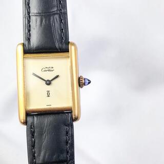 Cartier - 【仕上済】カルティエ タンク ベージュ文字盤 SM レディース 腕時計