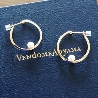 Vendome Aoyama - ヴァンドーム青山 K18 YG パール フープピアス