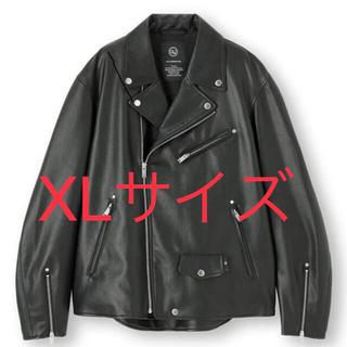 ジーユー(GU)のGu Undercover フェイクレザージャケット XL(ライダースジャケット)