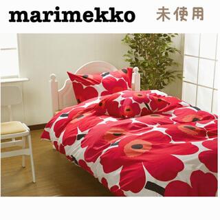 marimekko - マリメッコ 掛け布団カバー ベッドカバー ベッドシーツ シングル ウニッコ 赤