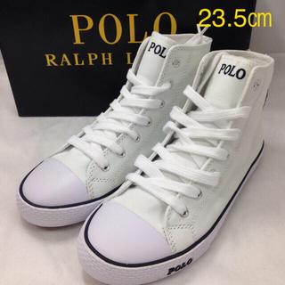 POLO RALPH LAUREN - ポロ ラルフローレンハイカットスニーカー ホワイト 新品未使用 US4.5
