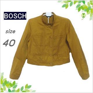 ボッシュ(BOSCH)の【BOSCH】マスタードイエロー系麻混薄手ジャケット*ブルゾン*40(その他)