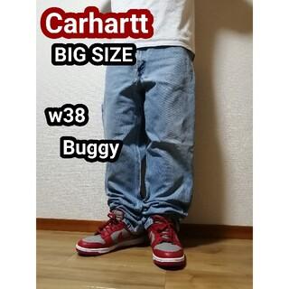 carhartt - 90s 90年代 カーハート Carhartt バギージーンズ デニム w38