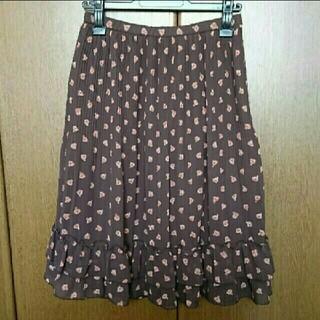 ギャラリービスコンティ(GALLERY VISCONTI)のギャラリービスコンティ🎀小花シフォンプリーツスカート(ひざ丈スカート)