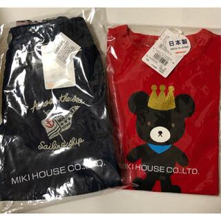 mikihouse - 新品 ミキハウス 110  キングくん 半袖Tシャツ ハーフパンツ