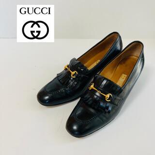 グッチ(Gucci)の【本革】gucci グッチ ビットローファー パンプス フリンジ ブラック(ハイヒール/パンプス)