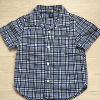 ベビーギャップ(babyGAP)のbaby GAP 100 半袖チェックシャツ(Tシャツ/カットソー)