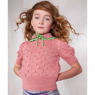 ボンポワン(Bonpoint)のSALE!【新品未使用】misha and puff 半袖ポップコーンセーター(ニット/セーター)