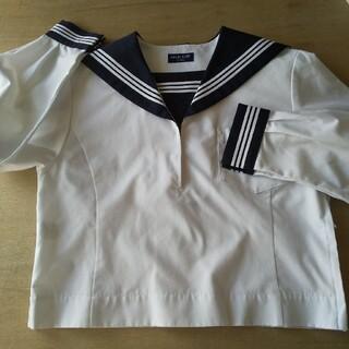 ミッシェルクラン(MICHEL KLEIN)のセーラー服 中間服 長袖 160A 紺 白3本 学校 制服(その他)