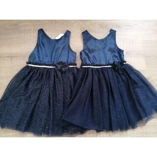 H&M - H&M ドレス ネイビー 2着 セット 姉妹 お揃い