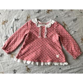 クーラクール(coeur a coeur)のクーラクール ハートチュニック ピンク 95cm(Tシャツ/カットソー)