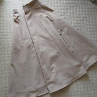 エムプルミエ(M-premier)のm's select フレアスカート 34 キャメルベージュ(ひざ丈スカート)