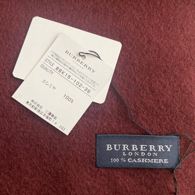 BURBERRY(バーバリー)の専用です!新品☆Burberry カシミヤ100% マフラー  メンズのファッション小物(マフラー)の商品写真