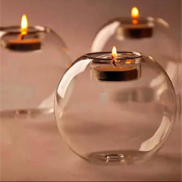 MUJI (無印良品)(ムジルシリョウヒン)の【新品 未使用】ガラスキャンドルホルダー2個セット コスメ/美容のリラクゼーション(キャンドル)の商品写真