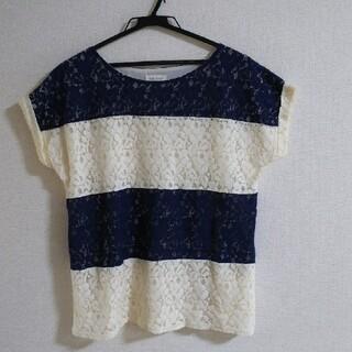 ロペピクニック(Rope' Picnic)の【Rope'  Picnic】Tシャツ  ボーダー   Mサイズ(Tシャツ(半袖/袖なし))