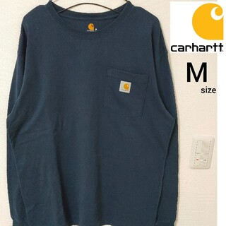 carhartt - 即日対応 Carhartt 長袖Tシャツ カットソー ロンT ネイビー M