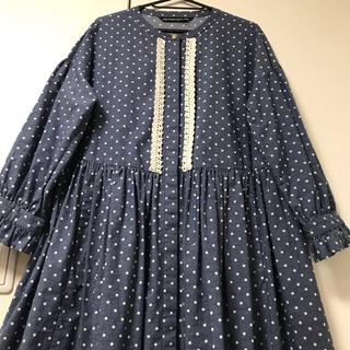 ジェーンマープル(JaneMarple)のVintage dot print tablier dress(ロングワンピース/マキシワンピース)