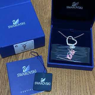 SWAROVSKI - SWAROVSKI スワロフスキー ハートロックペンダント ネックレス 新品