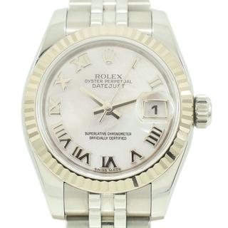 ロレックス(ROLEX)のロレックス デイトジャスト レディースウォッチ 時計 SS×K18WG シェル文(腕時計)