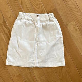 GU - GU 可愛いホワイトデニムスカート