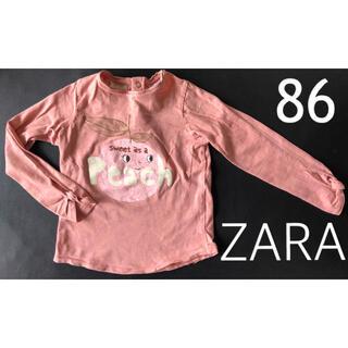 ザラ(ZARA)のZARA baby ザラベイビー 子供 女の子 綿 ロンT  カットソー  90(シャツ/カットソー)