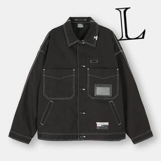 ミハラヤスヒロ(MIHARAYASUHIRO)のミハラヤスヒロ x GU シェフジャケット ブラック L(Gジャン/デニムジャケット)