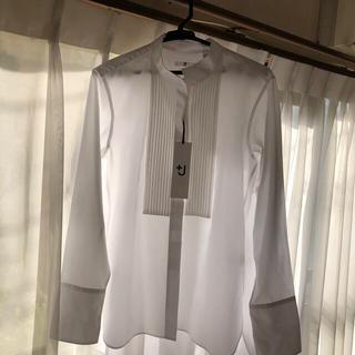 UNIQLO - ユニクロ +J スーピマコットンタックシャツ Mホワイト