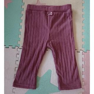 しまむら - リブレギンス 薄手 薄紫 100