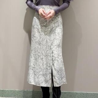 snidel - ラインフラワーナロースカート