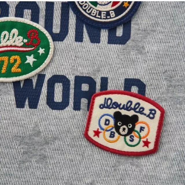 DOUBLE.B(ダブルビー)のダブルビーTシャツグレー100size キッズ/ベビー/マタニティのキッズ服男の子用(90cm~)(Tシャツ/カットソー)の商品写真