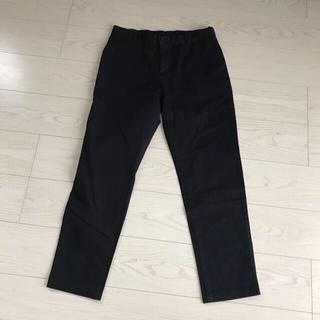 MUJI (無印良品) - 無印良品パンツ着丈95股下70ウエスト平置40ゴム新品未使用レディース綿素材