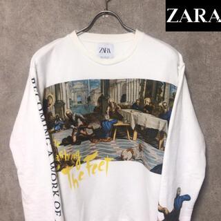 ZARA - 完売品 ZARA プラド美術館 コラボ トレーナー   ホワイト