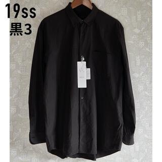 COMOLI - 【早い者勝ち】19ss comoli コモリシャツ サイズ3 ブラック 黒