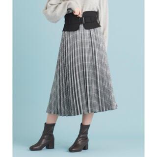 MAJESTIC LEGON - MAJESTIC LEGON★ベルトデザインプリーツスカート★ブラックチェック