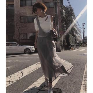 アメリヴィンテージ(Ameri VINTAGE)の【新品・未使用】定価2万2000円 ワンショルダースカート(ロングスカート)