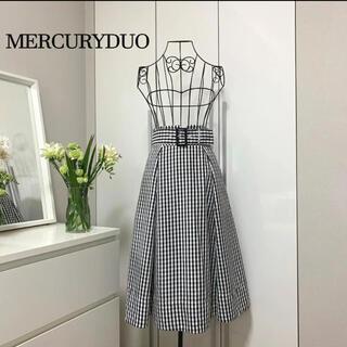 MERCURYDUO - 【美品】マーキュリーデュオ ベルト付きギンガムチェックスカート