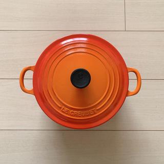 ルクルーゼ(LE CREUSET)の《値下げ》ル・クルーゼ ココットロンド 22cm(鍋/フライパン)
