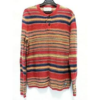 デニムアンドサプライラルフローレン(Denim & Supply Ralph Lauren)のデニム&サプライ 薄手 セーター 長袖 Tシャツ ロンT ヘンリーネック 丸首 (ニット/セーター)