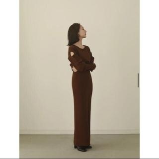 エディットフォールル(EDIT.FOR LULU)のlouren shoulder cut knit onepiece(ロングワンピース/マキシワンピース)