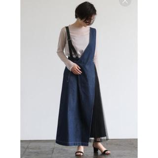 GW限定❣️ AULA AILA サイドチュールプリーツ ジャンパースカート