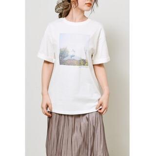 snidel - タグ付き新品★スナイデルのコラボフォトTシャツ★Aデザイン★F★完売デザイン